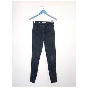 Levis Mile High Super Skinny Black Jeans
